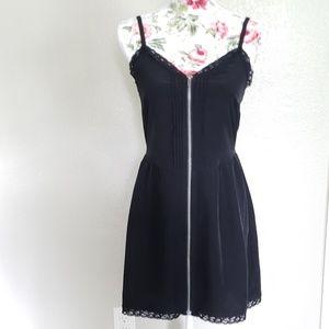 H&M Divided Little Black Zipper Dress